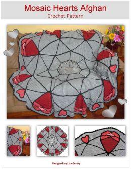 Mosaic Hearts Afghan - Crochet Pattern