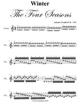 Winter Four Seasons Easy Violin Sheet Music PDF