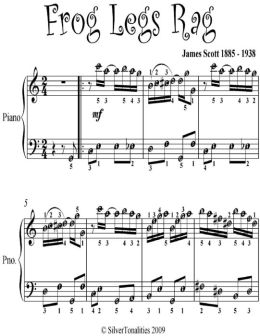 Frog Legs Rag Easy Piano Sheet Music