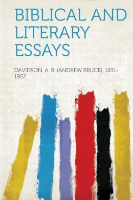 Biblical and Literary Essays