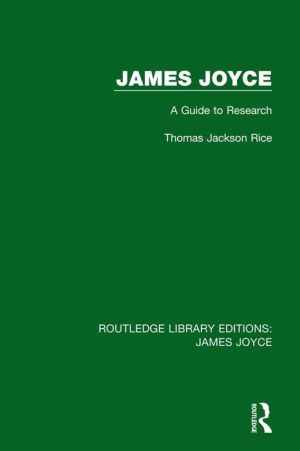 James Joyce: A Guide to Research