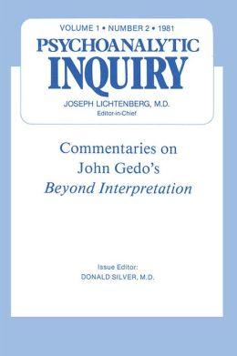 Commentaries: Psychoanalytic Inquiry, 1.2