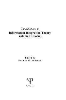 Contributions To Information Integration Theory: Volume 2: Social