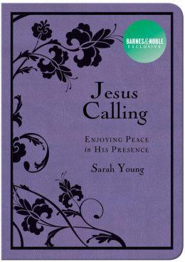 Jesus Calling: Enjoying Peace in His Presence (Deluxe Purple Black) (B&N Exclusive Edition)
