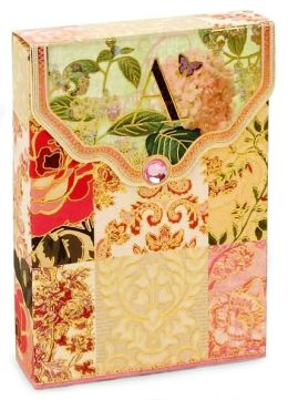 Rustic Floral Pouch Note Card A Set of 10