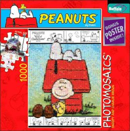 Peanuts Snoopy and Charlie Brown Photomosaic 1,000 Pc Puzzle
