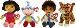 Dora, Diego, Boots & Baby Jaguar - Beanie Babies 4-Pack
