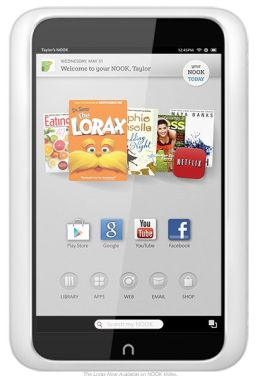 Reading on nook hd plus