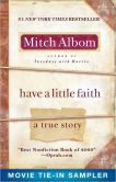 Book Cover Image. Title: Have a Little Faith Movie Tie-in Sampler, Author: Mitch Albom