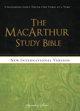The MacArthur Study Bible, NIV