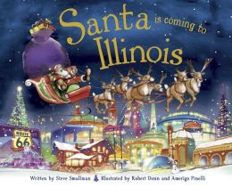Santa Is Coming to Illinois (PagePerfect NOOK Book)