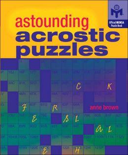 Astounding Acrostic Puzzles (Mensa)