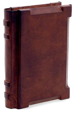 Wood Covered Italian Leather Handmade Journal-(5