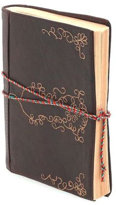 Leather Embroidered Brown Journal 5x7
