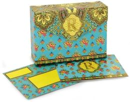 Paisley Monogram Note Card R Set of 10