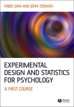 Experimental Design and Statistics for Psychology