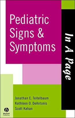 In A Page Pediatric Signs & Symptoms
