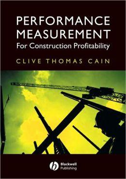 Performance Measurement for Construction Profitability