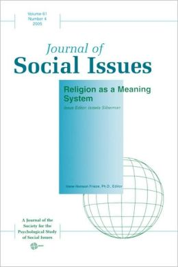 Journal of Social Issues, Religion As a Meaning System