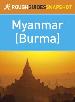 Rough Guide Snapshot Myanmar (Burma)