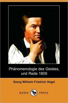 Phanomenologie Des Geistes, Und Rede 1809