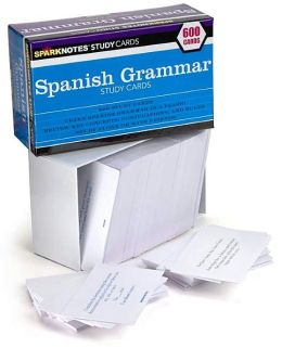 Spanish Grammar (SparkNotes Study Cards)