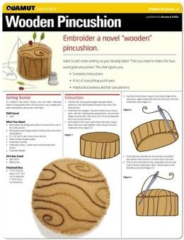 Embroidery: Wooden Pincushion (Quamut)
