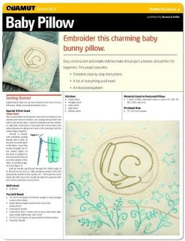 Embroidery: Embroidered Baby Pillow (Quamut)
