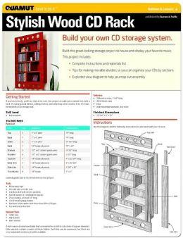 Woodworking: Stylish Wood CD Rack (Quamut)