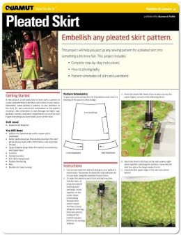 Sewing: Pleated Skirt (Quamut)