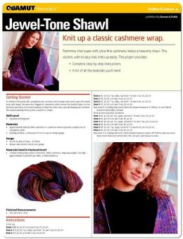 Knitting Project: Jewel-Tone Shawl (Quamut)
