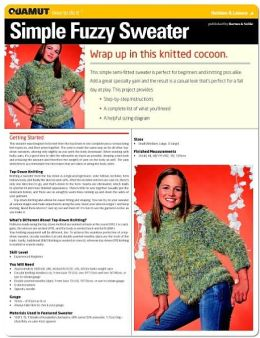 Knitting Project: Simple Fuzzy Sweater (Quamut)