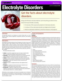 Electrolyte Disorders (Quamut)