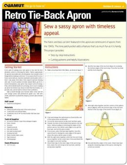 Sewing Project: Retro Tie-Back Apron (Quamut)