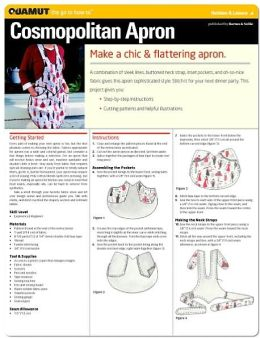 Sewing Project: Cosmopolitan Apron (Quamut)
