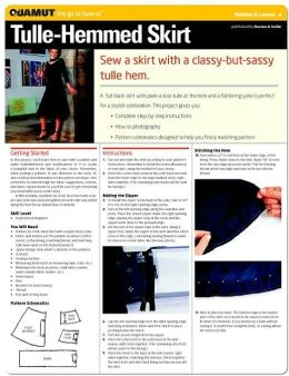 Sewing Project: Tulle-Hemmed Skirt (Quamut)