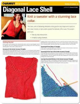 Knitting Project: Diagonal Lace Shell (Quamut)