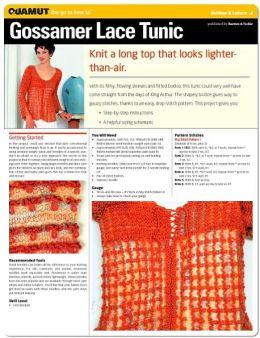 Knitting Project: Gossamer Lace Tunic (Quamut)