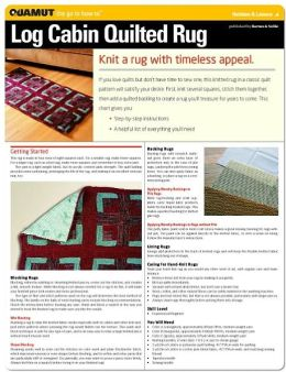 Knitting Project: Log Cabin Quilted Rug (Quamut)