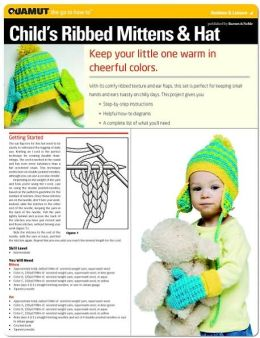 Knitting Project: Childs Ribbed Mittens & Hat (Quamut)