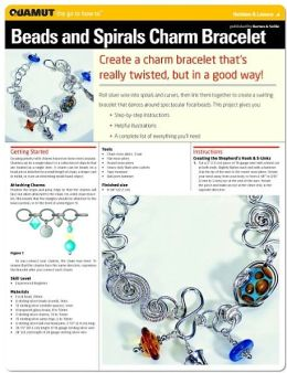 Jewelry Making & Beading Projects: Beads And Spirals Charm Bracelet (Quamut)