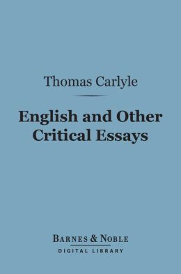 English and Other Critical Essays (Barnes & Noble Digital Library)