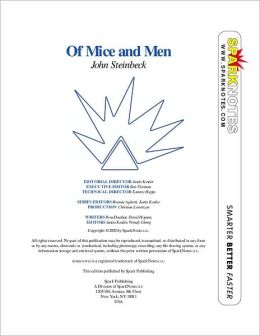 Of Mice and Men (SparkNotes Literature Guide Series)