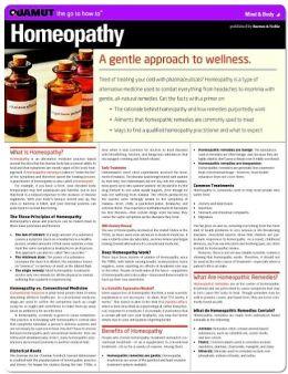 Homeopathy (Quamut)