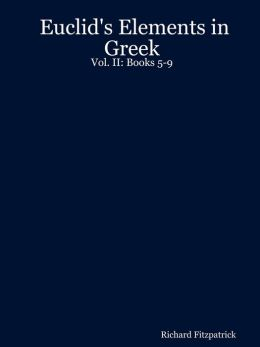 Euclid's Elements in Greek: : Books 5-9