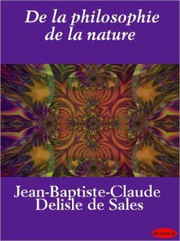 De la philosophie de la nature
