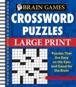 Brain Games: Large Print Crossword Puzzles