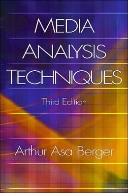 Media Analysis Techniques 3E