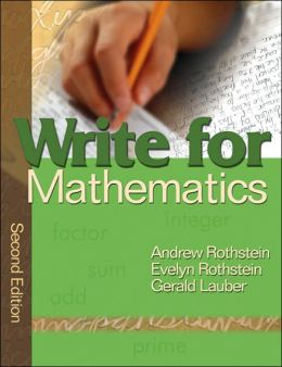 Write for Mathematics