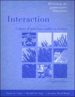 Workbook/Lab Manual for Interaction: Revision de grammaire française, 7th